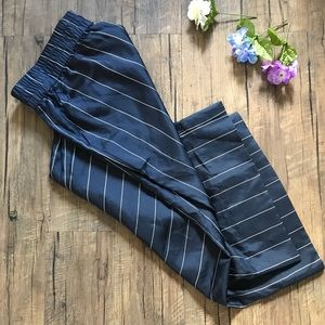 NWT J Crew Pajama Navy Striped Pants